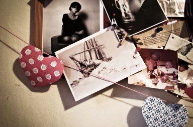 Postkarte der berühmten MS Fram an Pinnwand