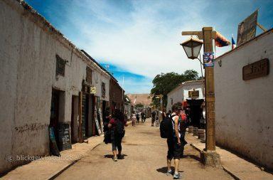 Straße in San Pedro de Atacama
