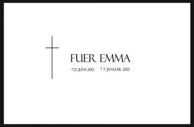 Todesanzeige Fuer Emma