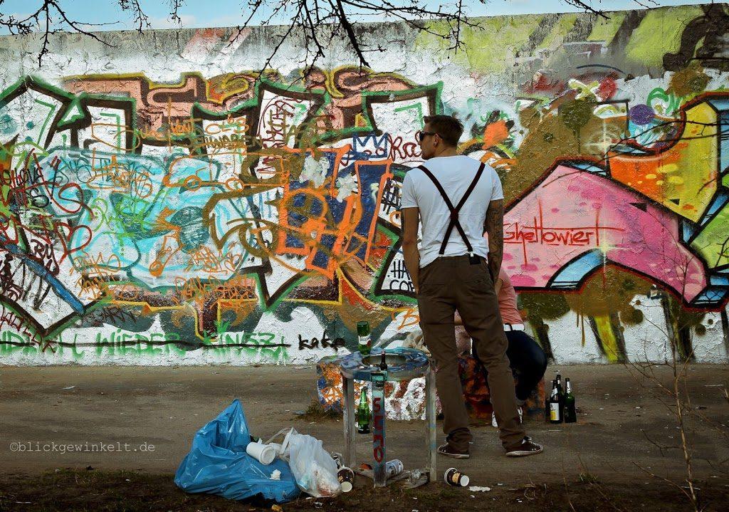 Bunde Mauer im Mauerpark Berlin