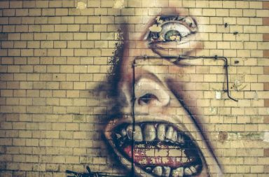 Gruseliges Wandbild in Beelitz-Heilstätten