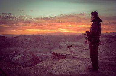 Sonnenuntergang im Valle de la Luna, Tal des Mondes, in Chile.