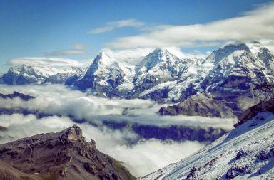 Blick auf Eiger, Mönch, Jungfrau