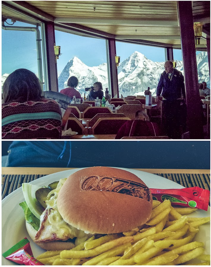 James Bond Burger am Schilthorn