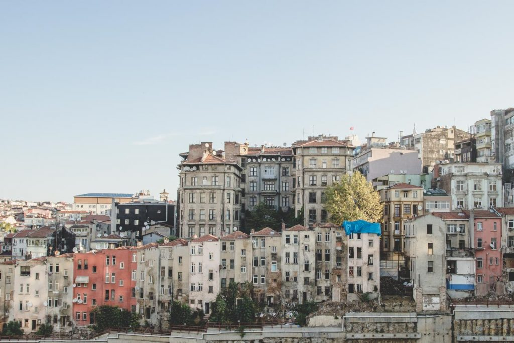 Hinterhofansichten in Istanbul