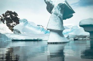 Antarktis Eisskulptur Eisberg