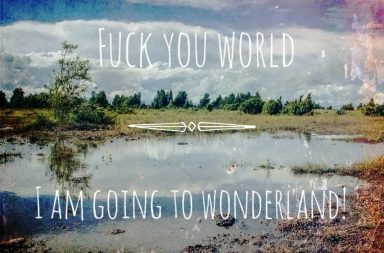 Fuck you world, I am going to wonderland!