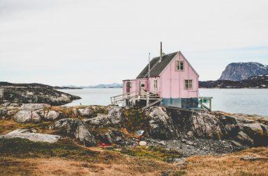 Rosa Haus in Grönland
