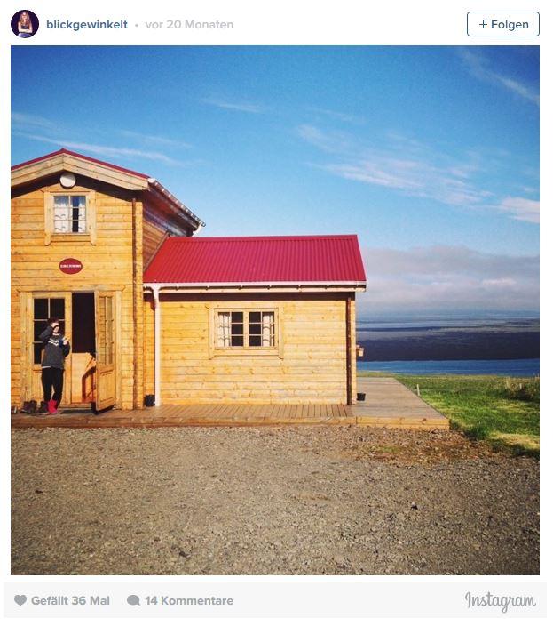 Holzhütten-Unterkunft in Island: Osar im Norden