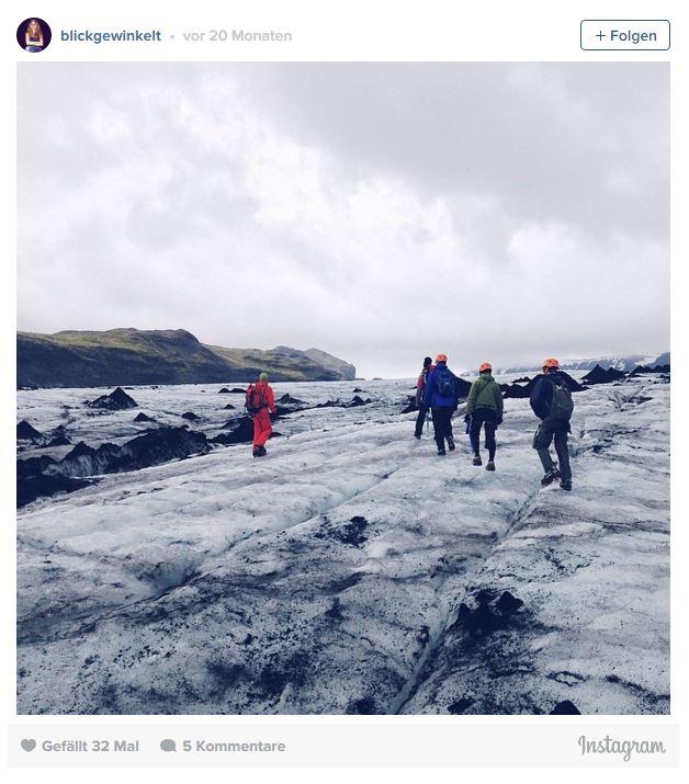Gletscherwanderung auf dem Solheimajökull in Island