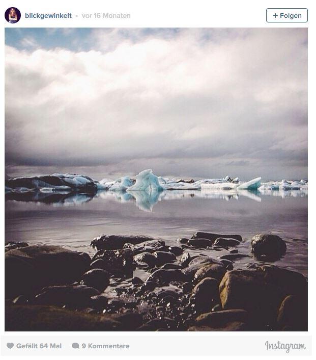 Die Gletscherlagune Jökulsarlon in Island