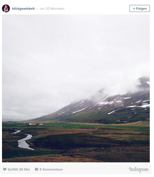 Das neblige Hochland von Island