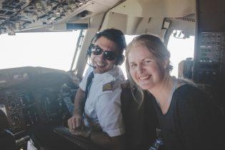 Kapstadt-Anflug im Cockpit von Condor
