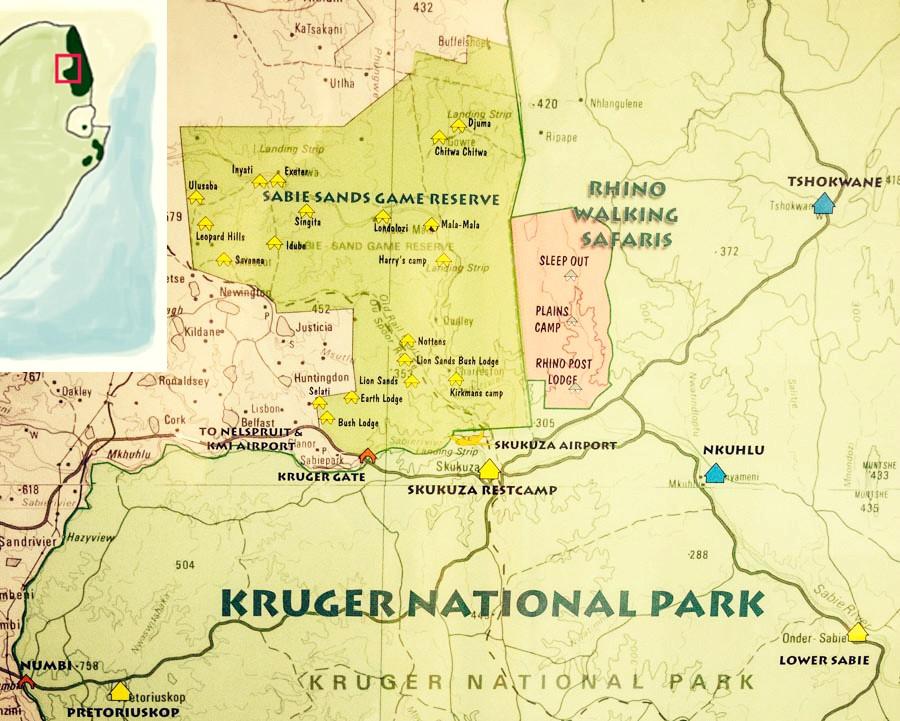 Kruger National Park Karte