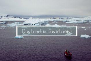 Antarktis-Film, Fahrt mit dem Zodiac durch Eisberge