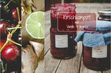 Rezept Kirschkompott mit Vanille und Ingwer