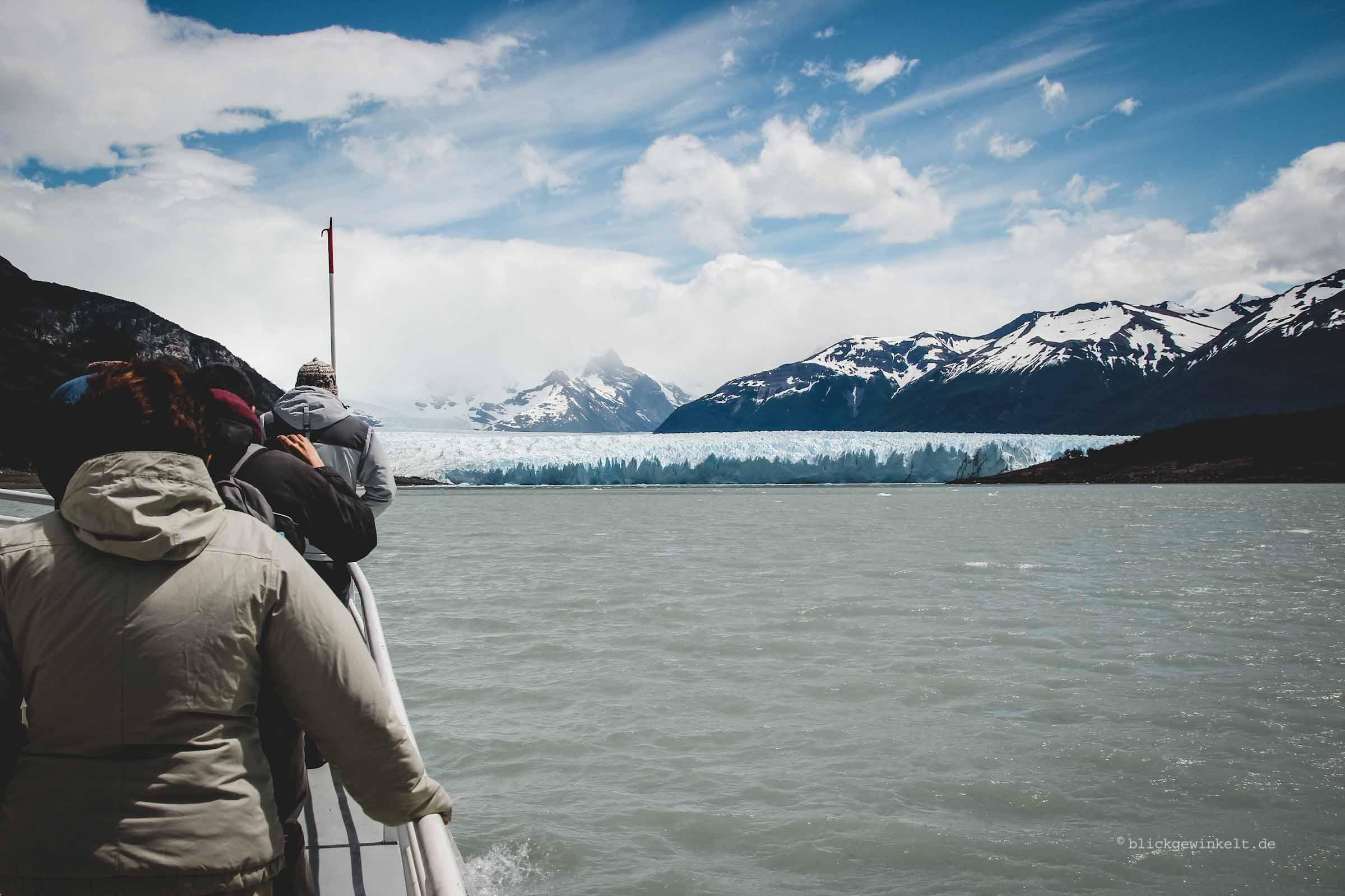 Bootsfahrt zum Perito Moreno Gletscher