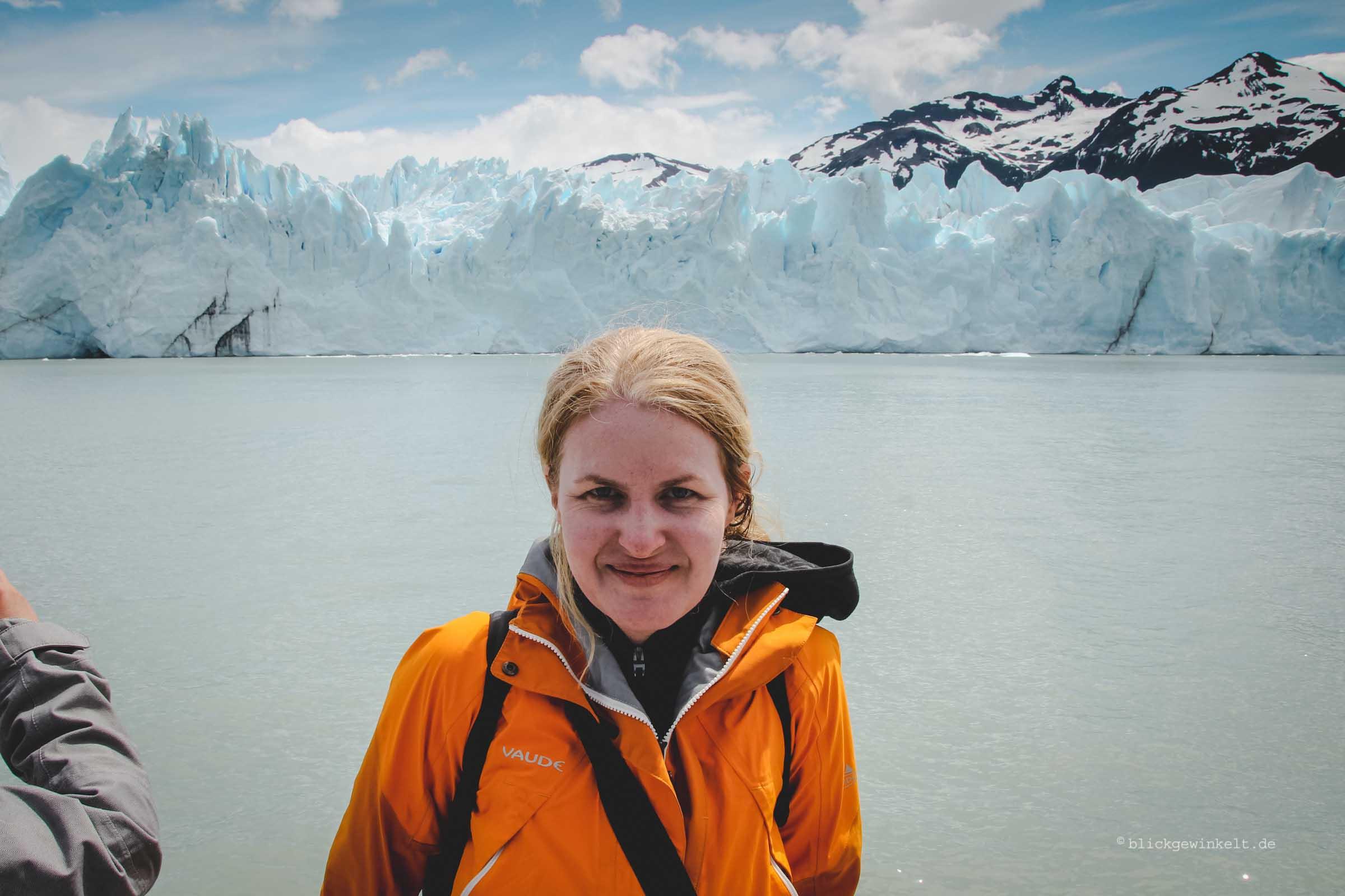 Selfie vor dem Perito Moreno Gletscher in Argentinien