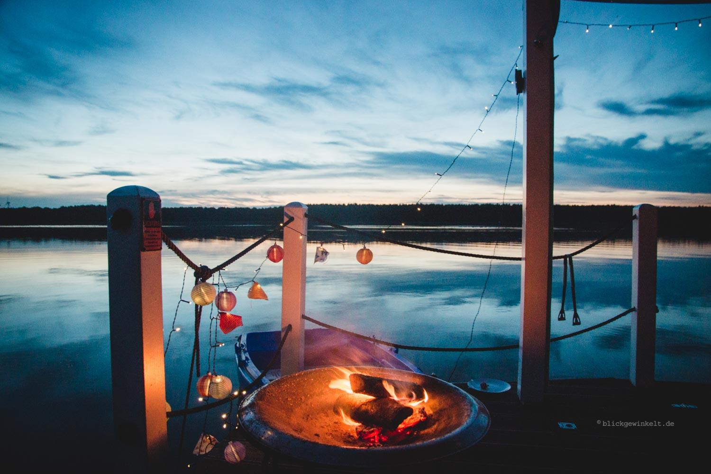 BunBo-Feuerstelle auf dem Hausboot
