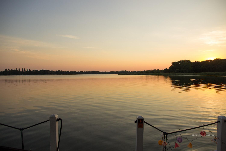 Sonnenuntergang in Brandenburg auf dem Hohennauener See