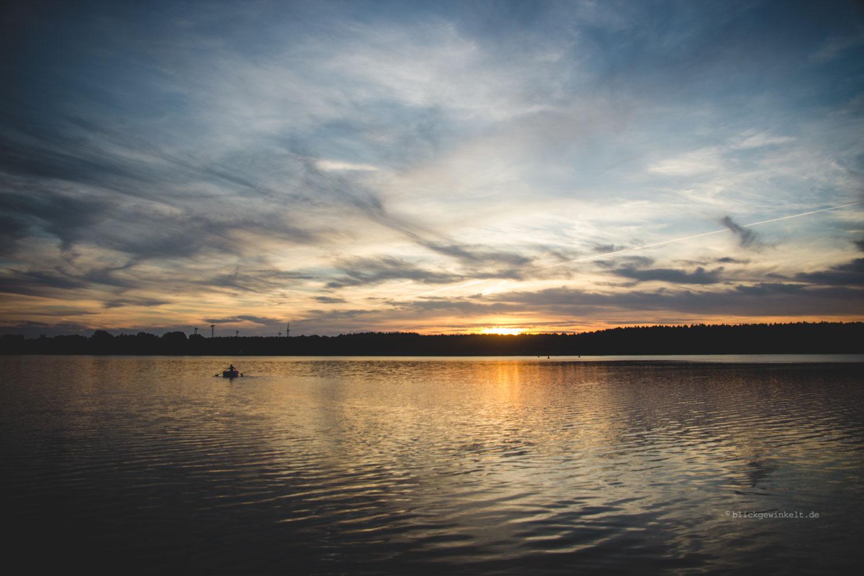 Sonnenuntergang am Hohennauenersee