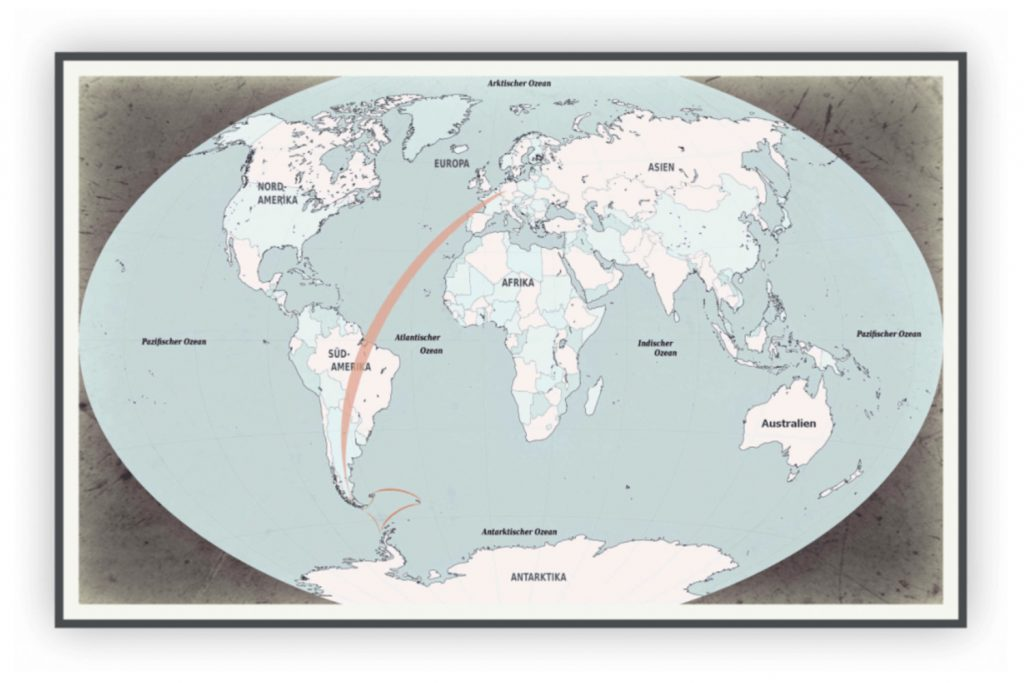 Antarktisreise Karte der Route