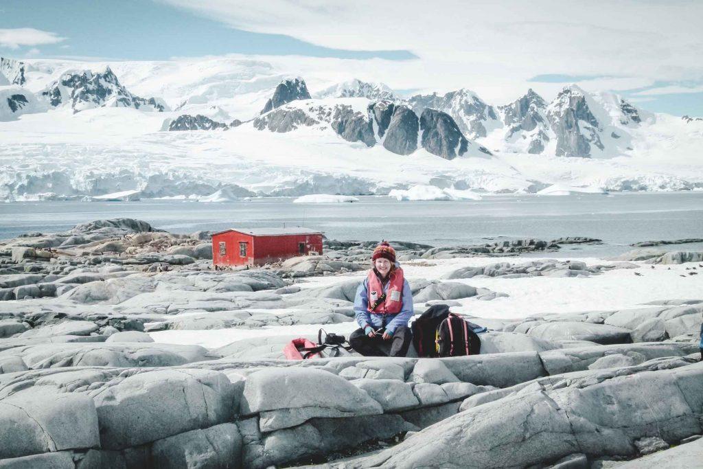 Mensch in der Antarktis