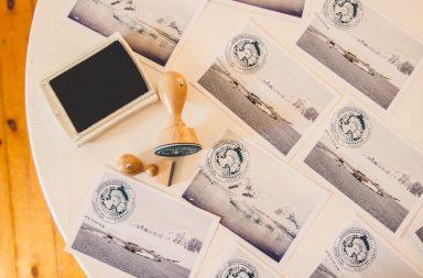 Antarktis-Postkarten