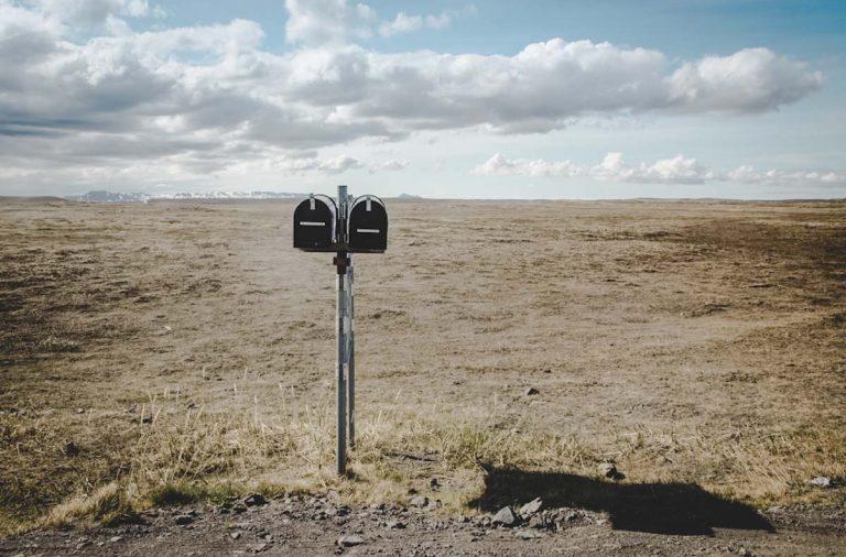 Briefkasten in Island