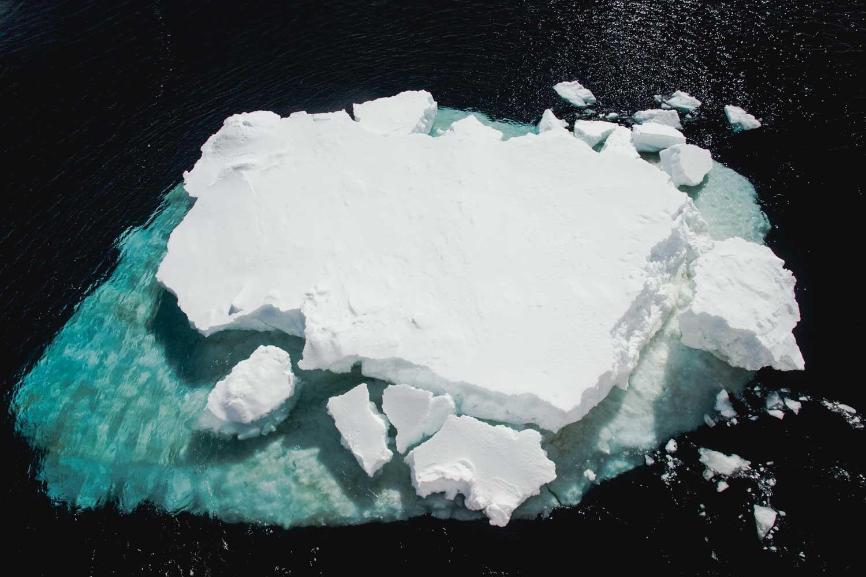 Meer-Eis im Weddell Meer in der Antarktis