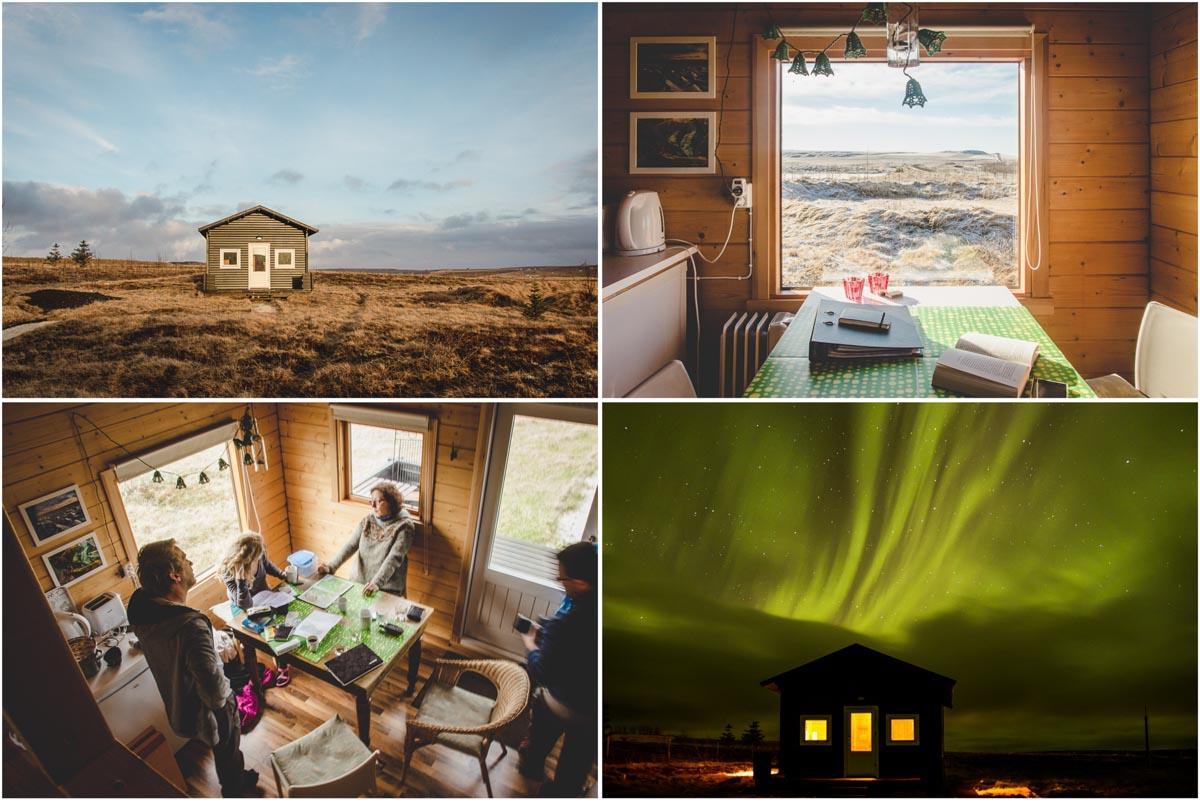 Holzhütten-Unterkunft in Island