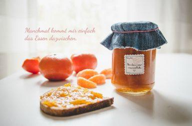Selbstgemachte Mandarinenmarmelade