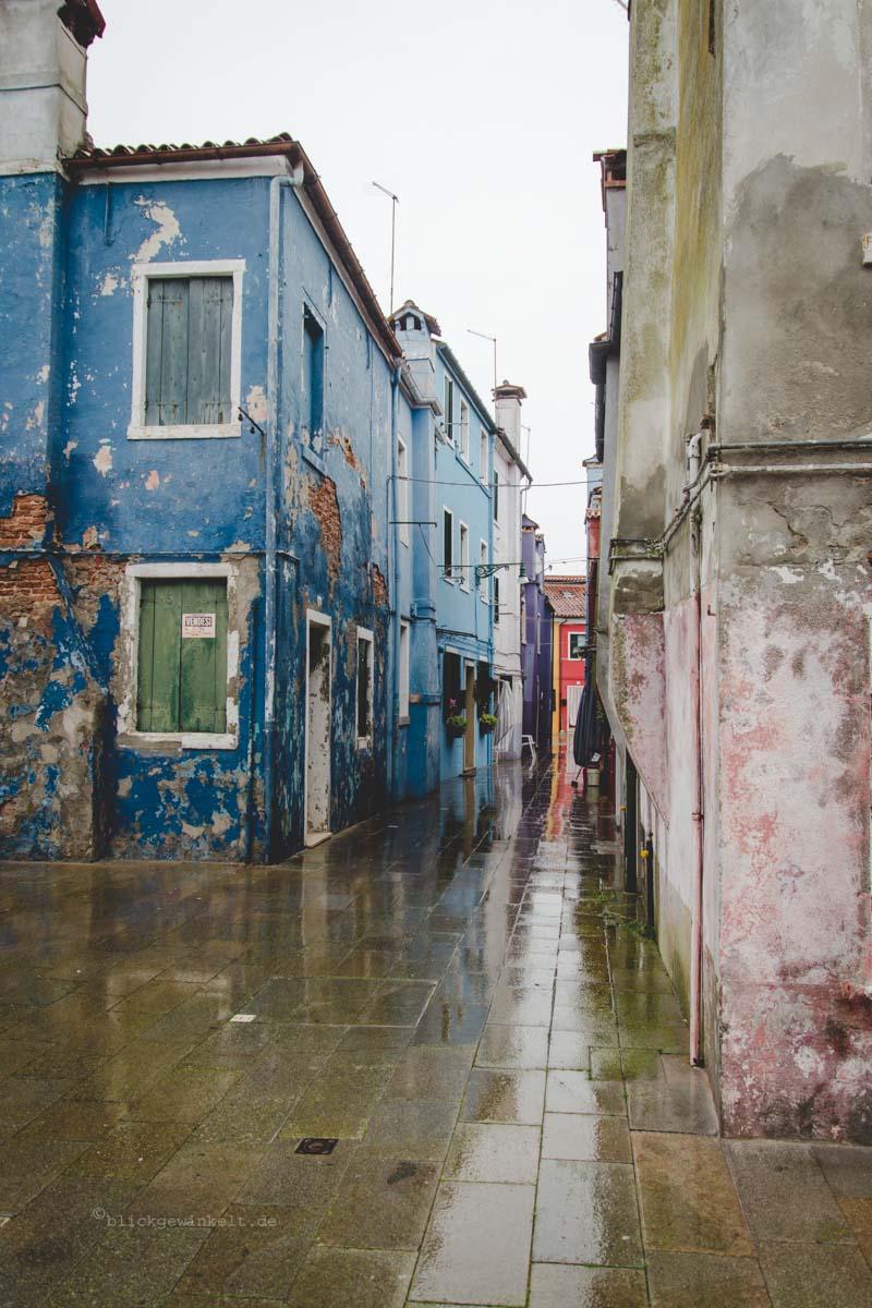 Burano, Venedig im Regen