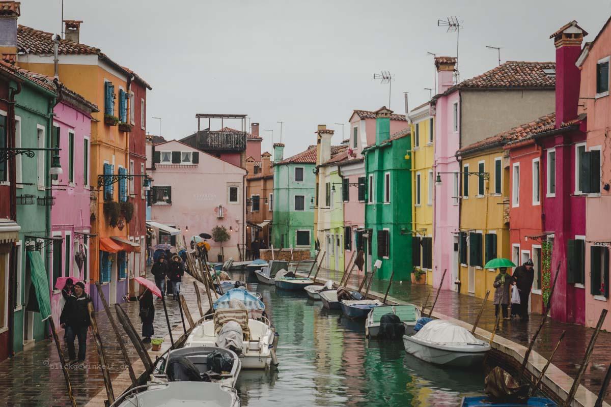 bunte Häuser in Burano, Venedig