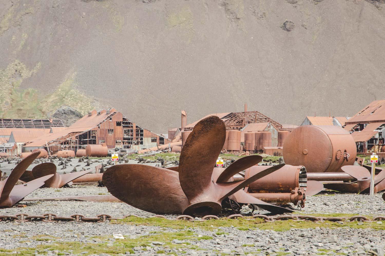 Überreste der verlassenen Walfangstation Stromness in Südgeorgien