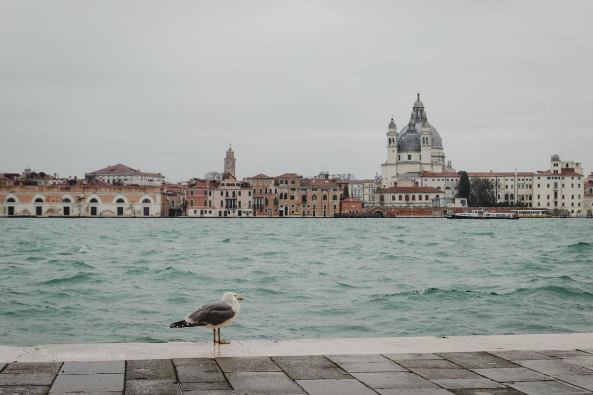 Lagune von Venedig in Grau