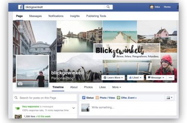 Facebookseite persönlicher Blog