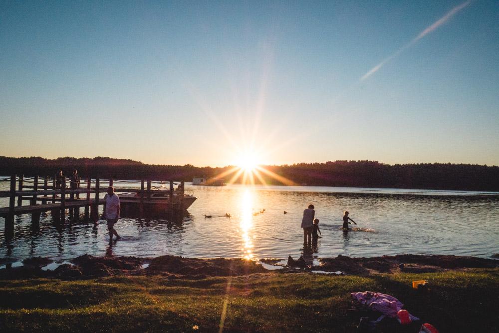 Sonnenuntergang am Granzower Möschen an der Mecklenburgischen Seenplatte