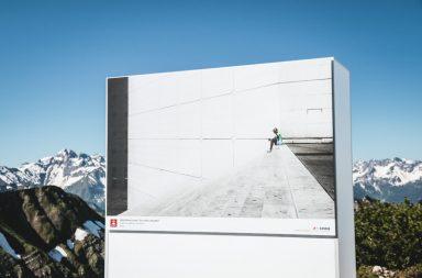 Leinwand am Berg: Ausstellung auf dem Nebelhorn