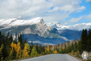 Die Rocky Mountains, Kanada, im Herbst