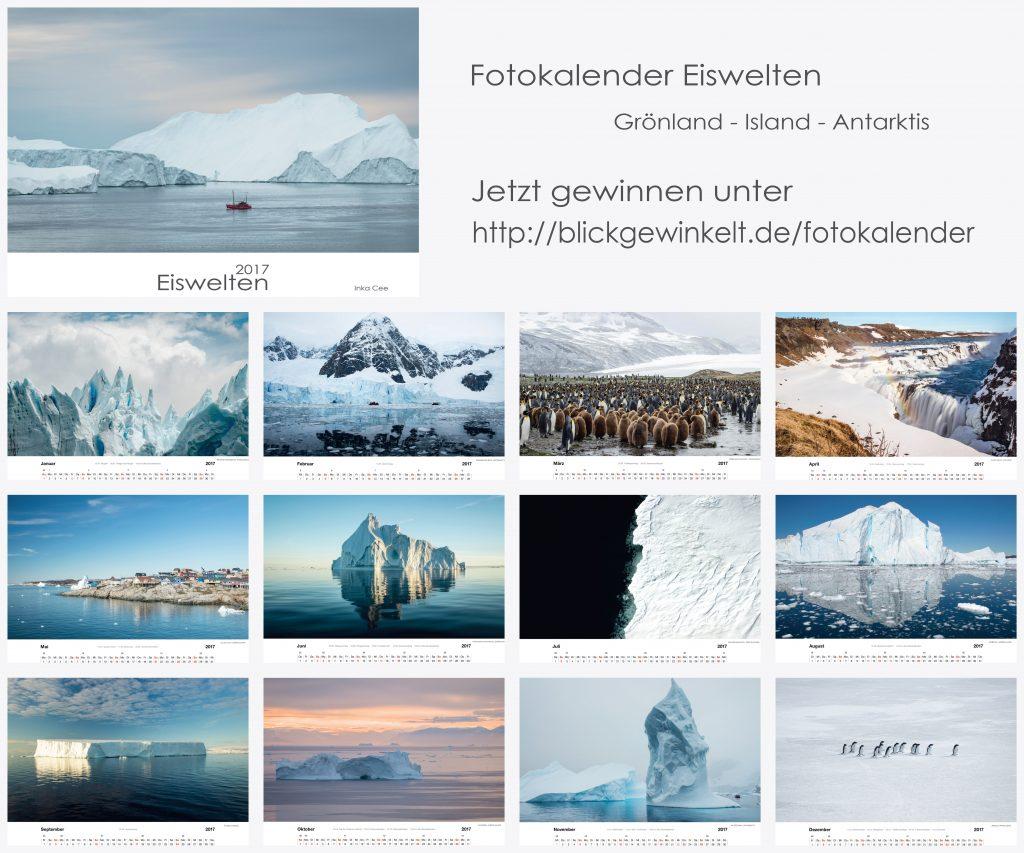 Eiswelten Kalender 2017, Kalenderblätter