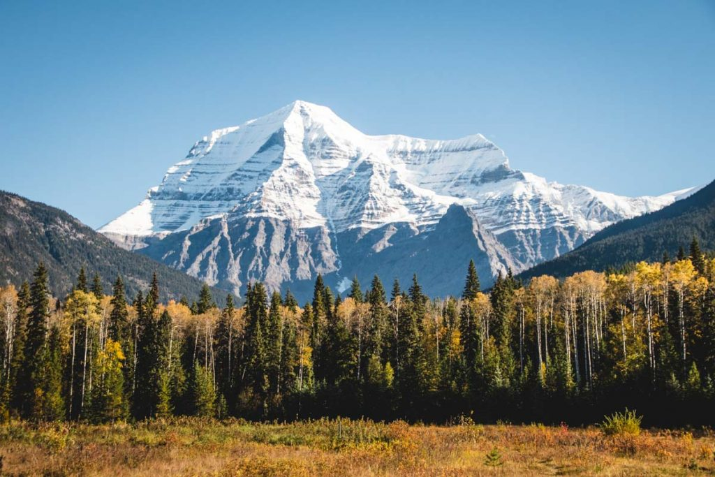 Mount Robson, hoher Berg in British Columbia