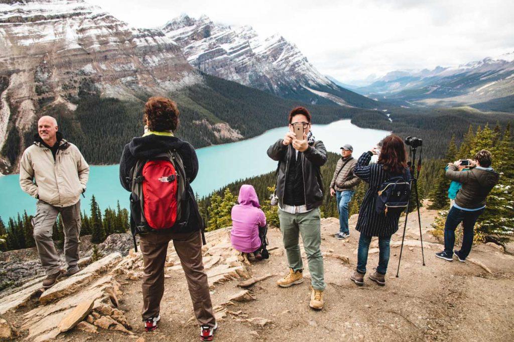 Peyto Lake und viele Touristen