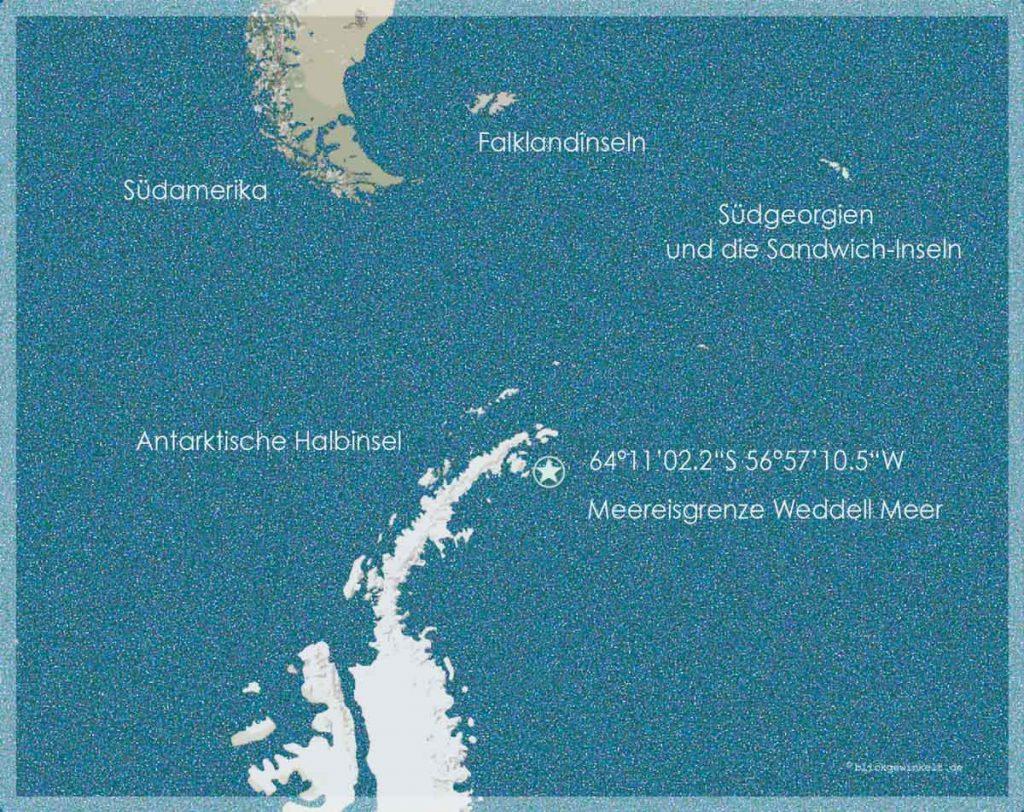 Karte Antarktis, Wedell Meer, Meereisgrenze