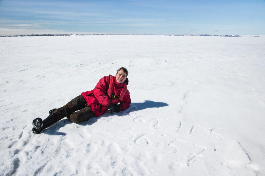 Posieren auf der Meereisgrenze im Weddell Meer