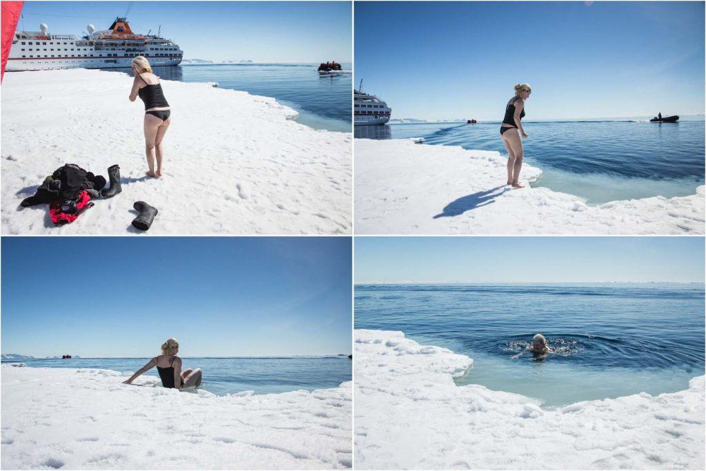 Schwimmen in der Antarktis