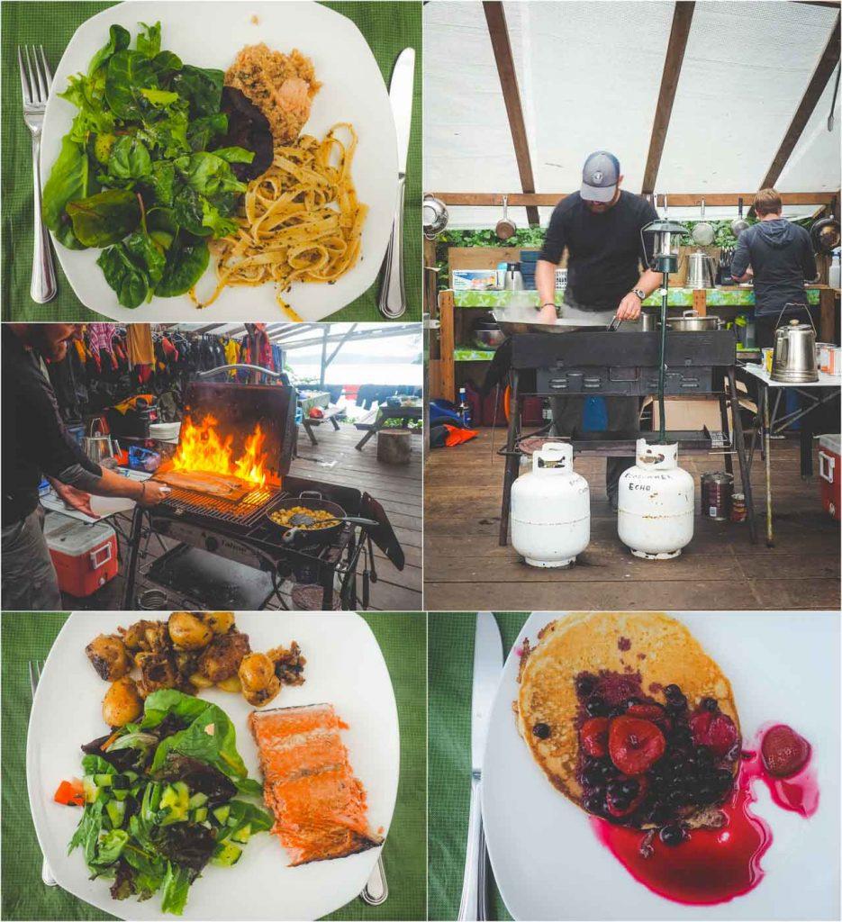 Essen im Orca-Camp