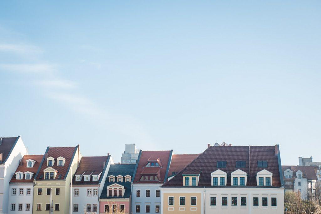 Hausfassaden und Dächer in Görlitz