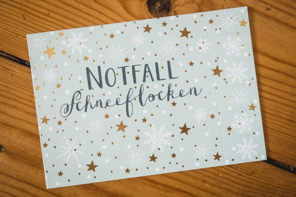 "Postkarte ""Notfall-Schneeflocken"""