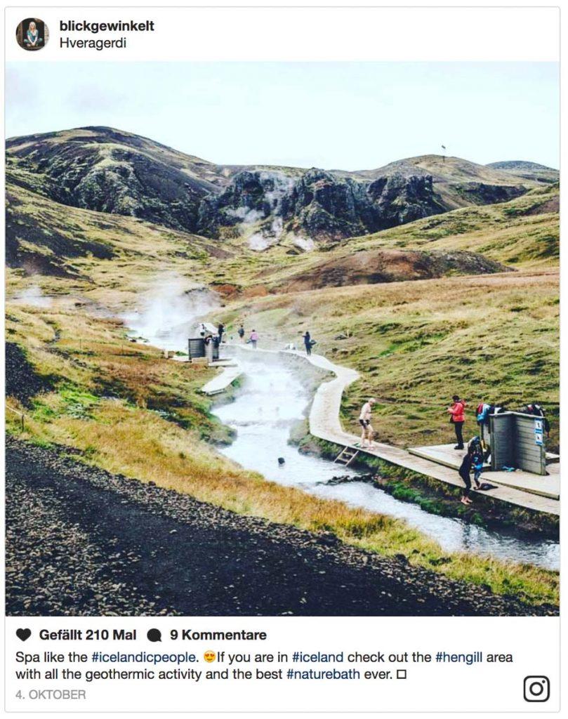 Hotpot Fluss Reykjadalur in Island